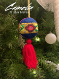 Mexican Felt Ornament Christmas Sphere with Tassel