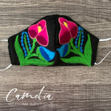 Mexican Embroidered Face Mask CHIAPAS TULIP