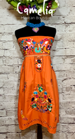 Puebla Mexican Dress Strapless