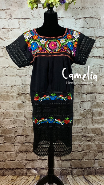 Puebla Mexican Dress Lace