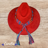 Mexican Suede Hat Woven Band