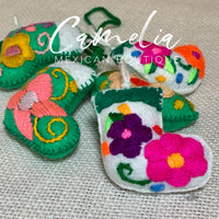 Mexican Felt Ornament Christmas Boot Mini
