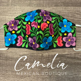 Mexican Embroidered Face Mask ADJUSTABLE and FILTER POCKET