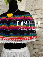 Off Shoulder Mexican Crop Top Blouse