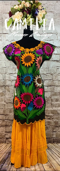 Mexican Sunflower Dress