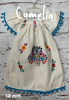 Girl Mexican Dress Pom Pom