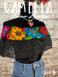 Off Shoulder Mexican Blouse Cotton Embroidery