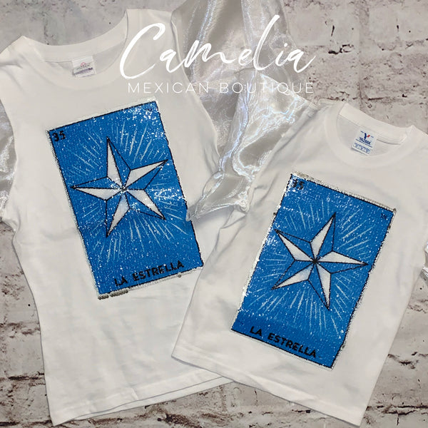 Mexican Loteria Shirt LA ESTRELLA - GIRLS