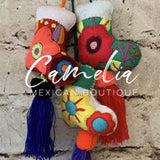Mexican Felt Ornament Christmas Boot Large with Tassel