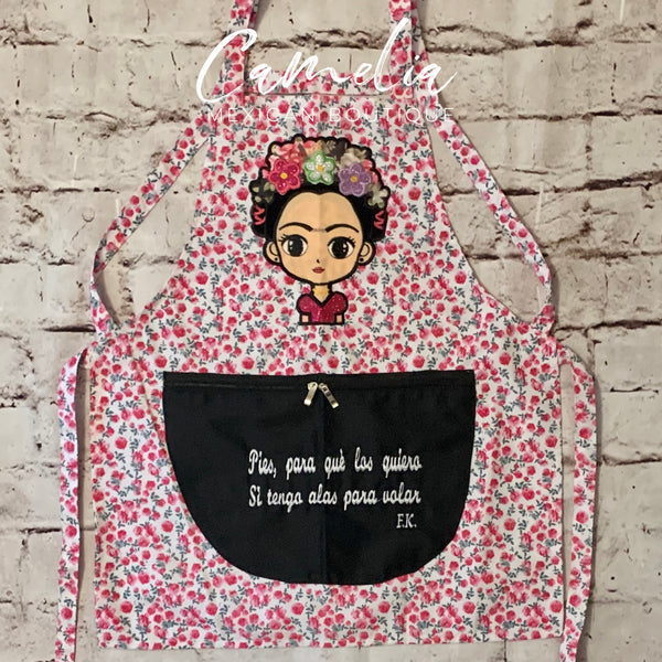 Frida Kahlo Apron Cotton ROSE GARDEN