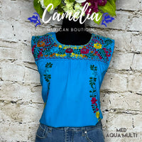 San Antonio Mexican Blouse - Sleeveless