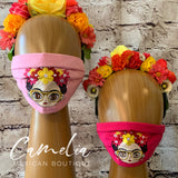 Mexican Embroidered Face Mask FRIDA GLASSES ADULT