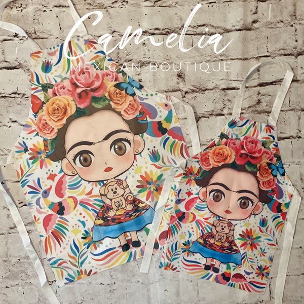 Frida Kahlo Apron MOMMY & ME Set OTOMI