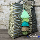 Handwoven Oaxacan Plastic Mexican Tote - Adjustable Opening