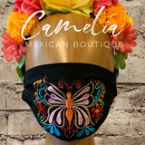 Mexican Embroidered Face Mask BUTTERFLY