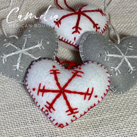 Mexican Felt Ornament Heart Large