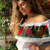 Off Shoulder Mexican Blouse Cross Stitch
