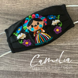Mexican Embroidered Face Mask MARIA DOLL ADULT
