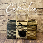 Handwoven Oaxacan Plastic Mexican Tote Bag - Boxed