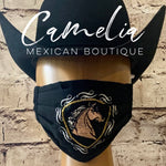 Mexican Embroidered Face Mask HORSE