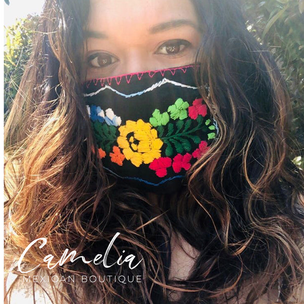Mexican Embroidered Face Mask SAN ANTONIO ADULT