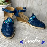 Mexican Leather Wedge Sandals Southwest