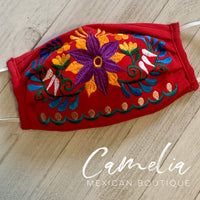 Mexican Embroidered Face Covering JAZMIN