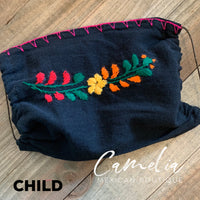 Mexican Embroidered Face Mask SAN ANTONIO CHILD