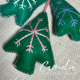Mexican Felt Ornament Christmas Tree Large
