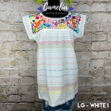 Loomed Mexican Blouse Silk Embroidery