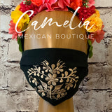 Mexican Embroidered Face Mask BRIDAL