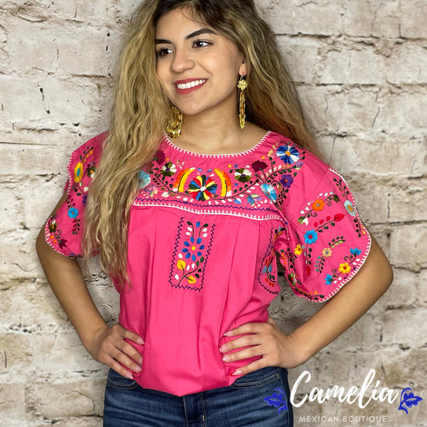 Puebla Mexican Blouse - Layered Sleeve