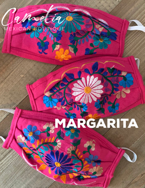 Mexican Embroidered Face Mask MARGARITA