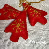 Mexican Felt Ornament Christmas Tree Small