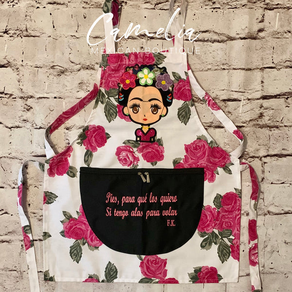 Frida Kahlo Apron Cotton QUEEN ROSE