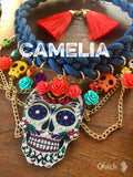 Day of The Dead Necklace Set Braided