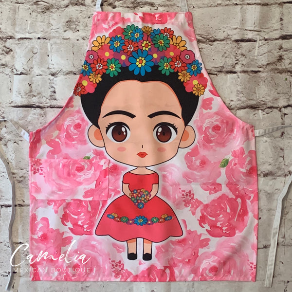Copy of Frida Kahlo Apron ROSE