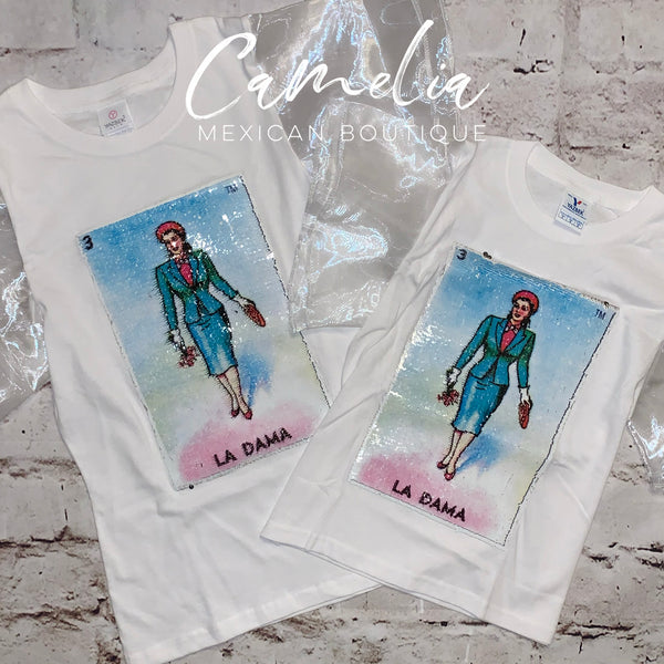Mexican Loteria Shirt LA DAMA - GIRLS