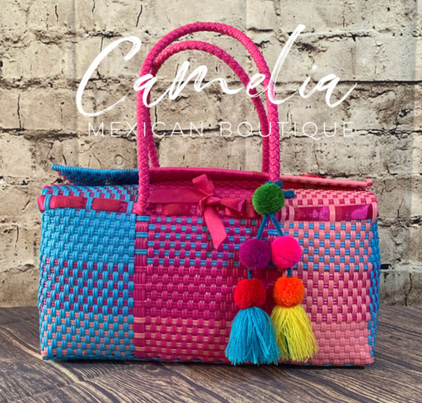 Handwoven Oaxacan Plastic Mexican Tote - Boxed