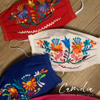 Mexican Embroidered Face Mask DOUBLE DAISY