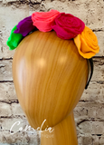 Girl Mexican Flowers Headband Felt