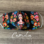 Face Mask Printed FILTER POCKET FLORAL FRIDA
