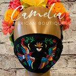Mexican Embroidered Face Mask OTOMI BIRD