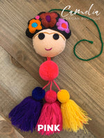 Frida Kahlo Tassel with Poms Large