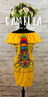 Off Shoulder Puebla Mexican Dress Mini