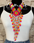 Huichol Mexican Beaded Necklace Set