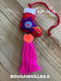Mexican Felt Ornament Christmas Boot Mini with Tassel