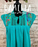Mexican Embroidered Gauze Blouse Sleeveless
