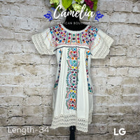 San Antonio Mexican Dress Lace