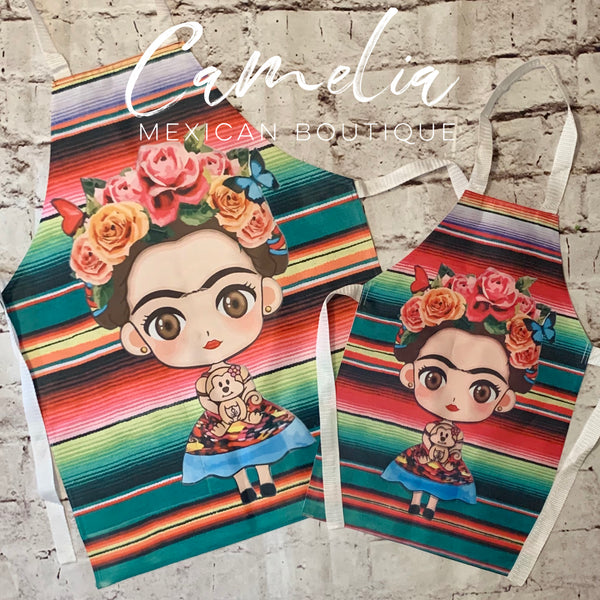 Frida Kahlo Apron MOMMY & ME Set SARAPE